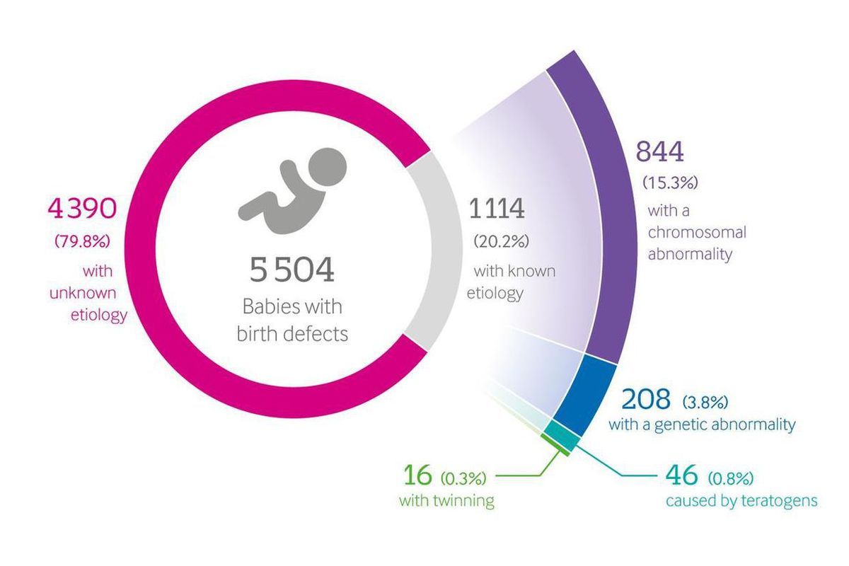Birth data over a five year period in Utah suggests that the root cause of nearly 80 percent of all serious birth defects cannot be identified, according to a University of Utah Health study published this week in the British Medical Journal.