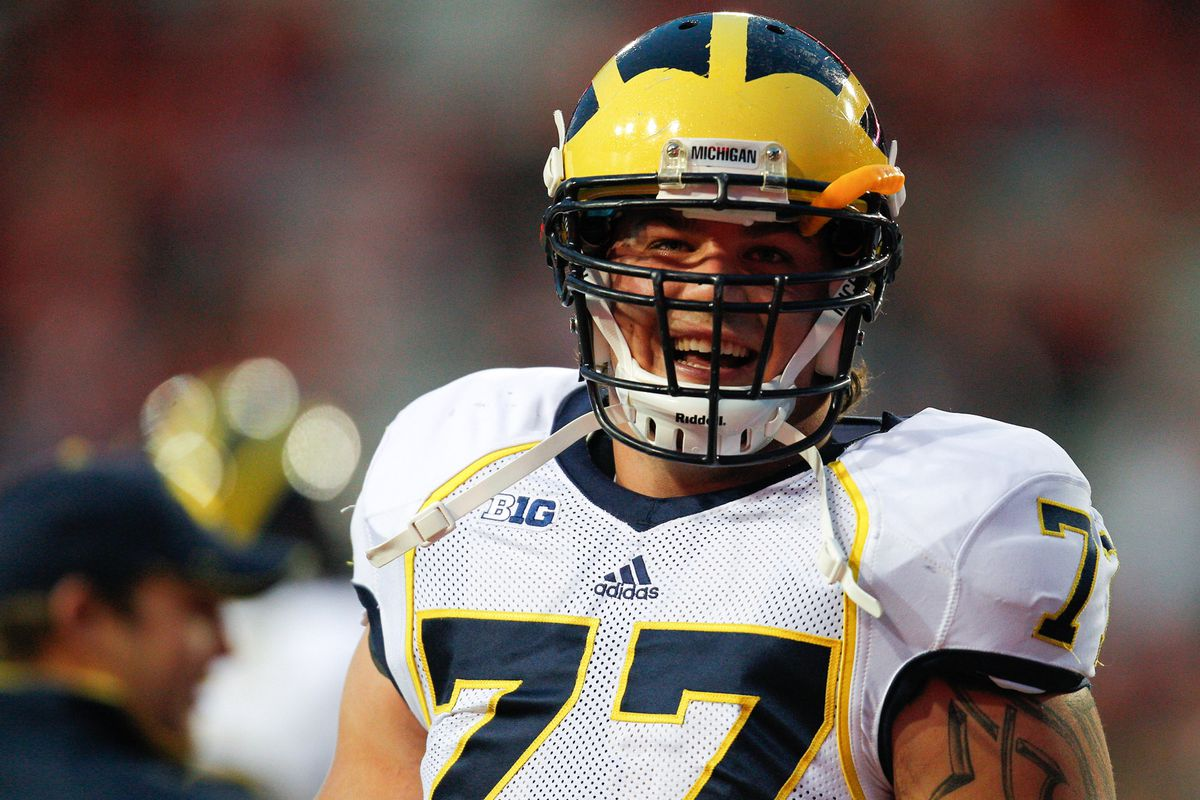 online retailer 2f3ff fd667 Taylor Lewan Announces He Will Stay for Senior Year - Maize ...