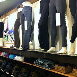 The requisite yoga pants section