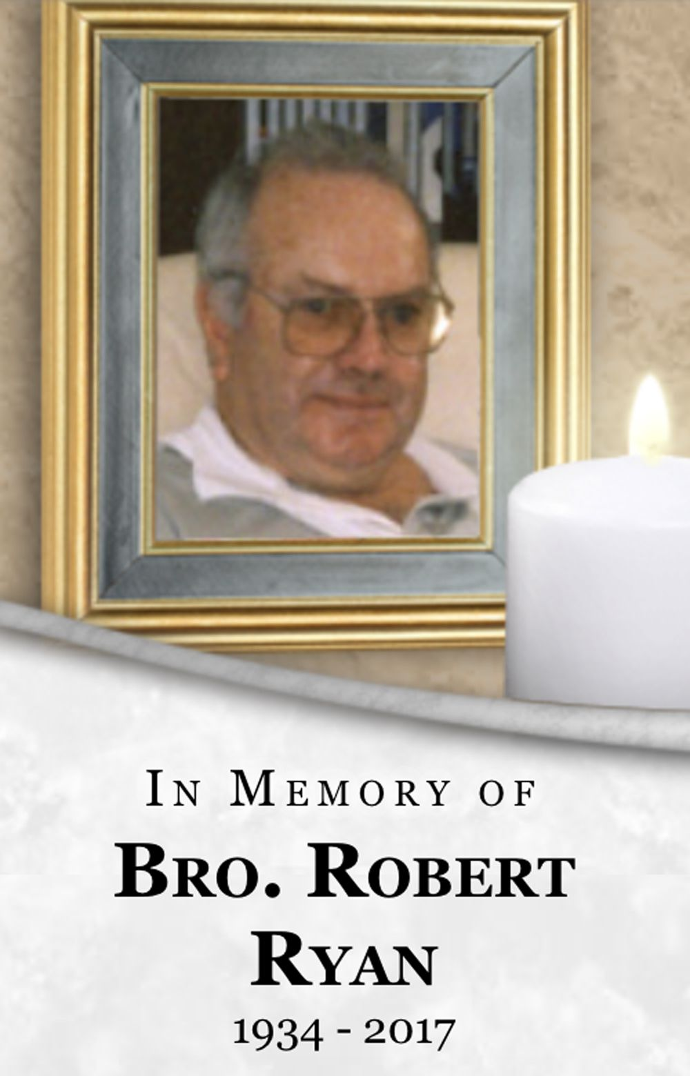 A Marist Brothers memorial for Brother Robert Ryan.