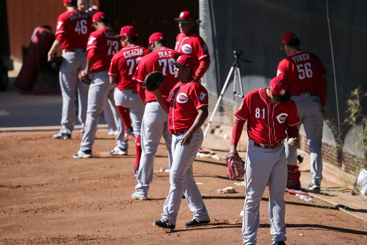 MLB: Cincinnati Red-Workouts