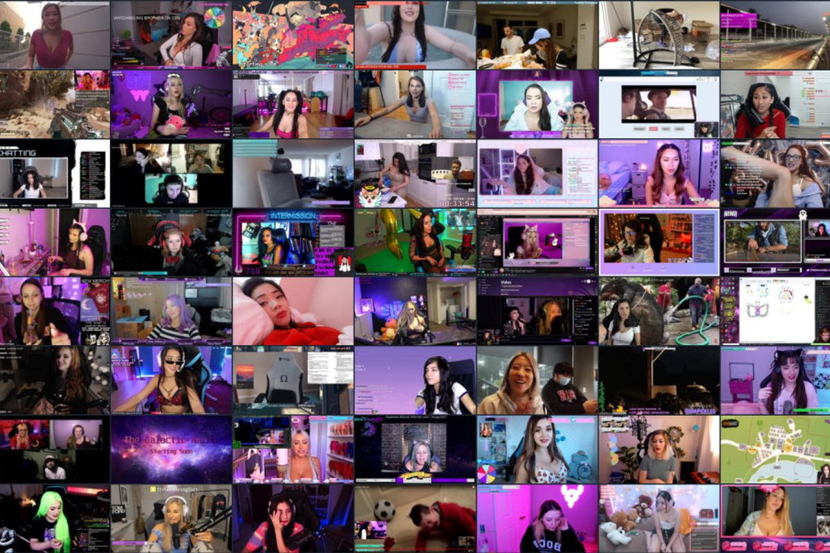 A grid of women streamers featured on Bunny Hop TV