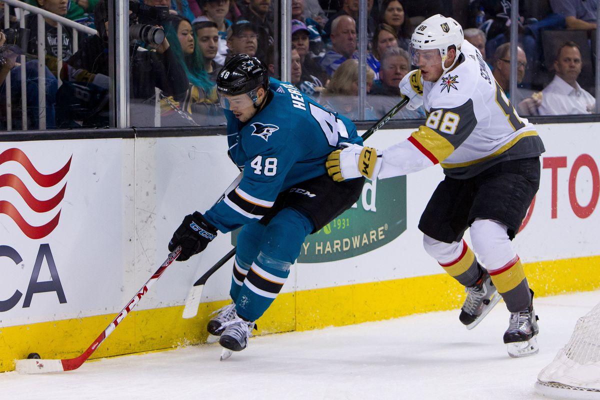 NHL: Vegas Golden Knights at San Jose Sharks