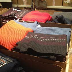 Wool scarves, $79—$89