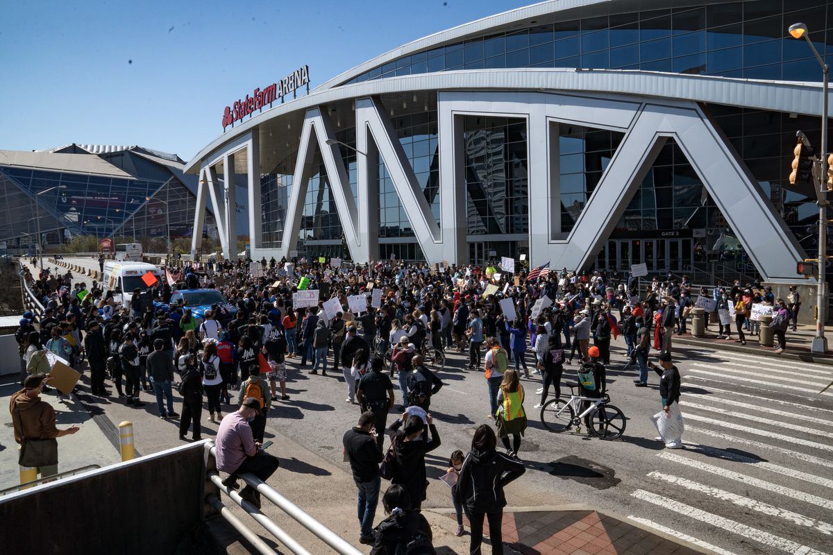 March In Solidarity With Asian Community Held In Aftermath Atlanta Killings
