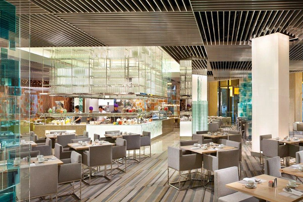 The 25,000 square-foot, 600 seat Bacchanal Buffet before the resort shutdown at Caesars Palace.