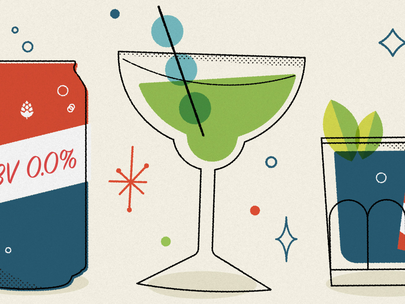 More and more alcohol brands, bars, and restaurants are starting to offer nonalcoholic options.