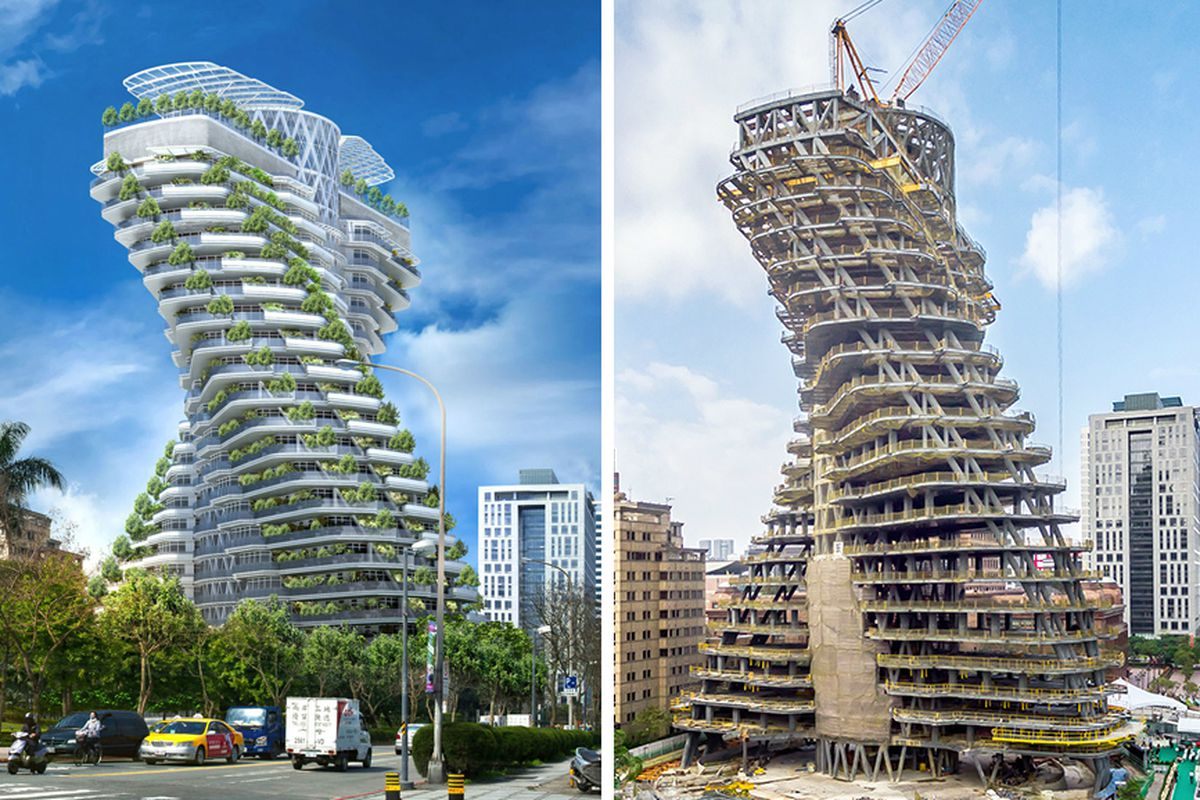Carbon Sucking Tree Tower Grows In Taiwan Curbed