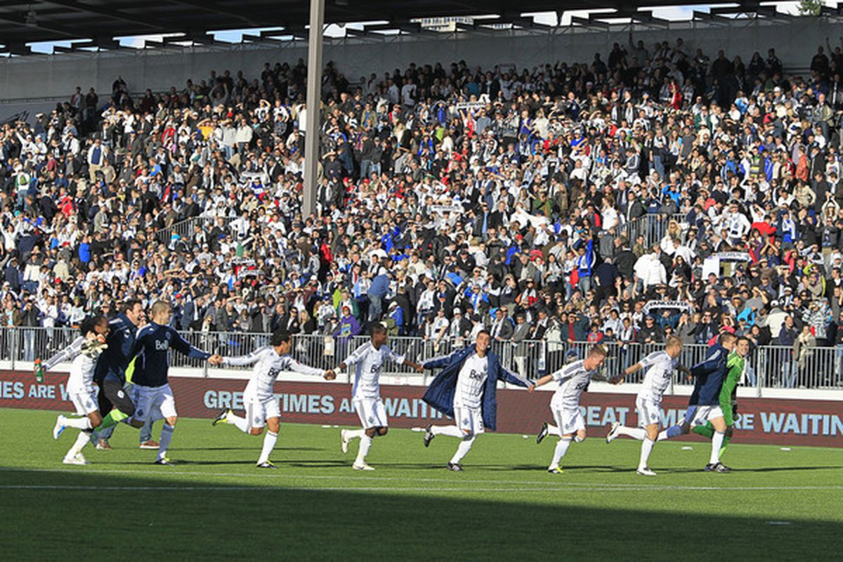 """Thordarsen's experimental 0-11-0 """"everyone hold hands"""" formation would prove to be the Whitecaps downfall."""