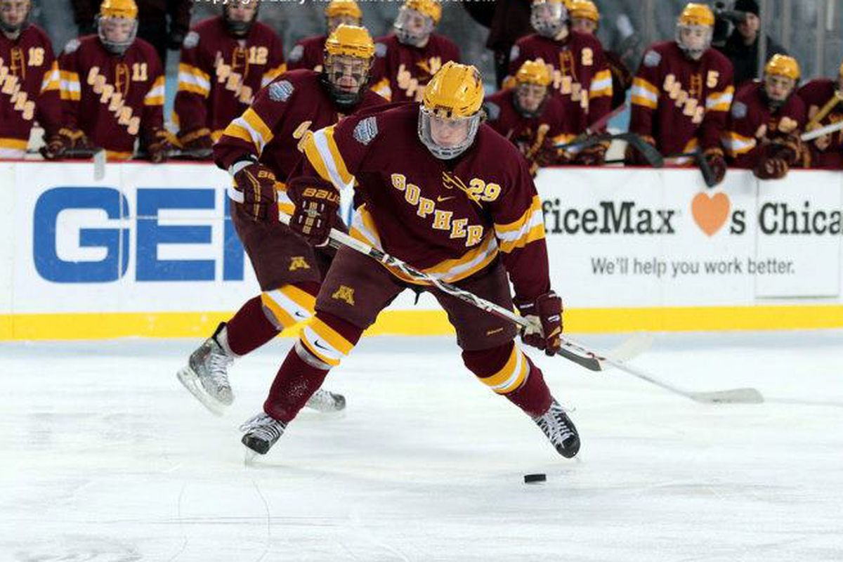 Nate Schmidt and Minneosta are playing catch-up in the WCHA race