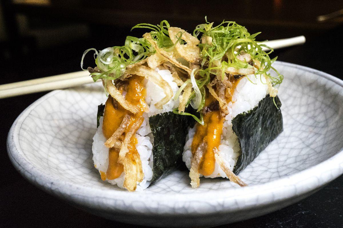 Uchi's wagyu yaki onigiri
