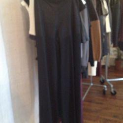 Silky flowing black pants, $25 (sample)