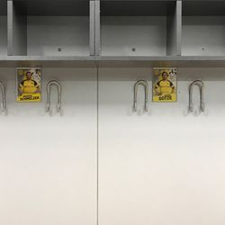 Marcel Schmelzer and Mario Götze are neighbors in BVB's locker room. There was a single empty picture in the locker room when I visited on August 2, 2019. That space was perhaps intended for Mats Hummels, whose portrait had not yet been put up.