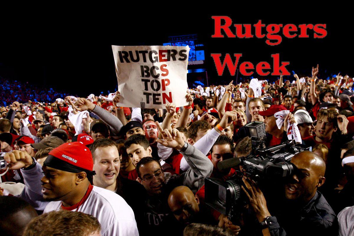 Rutgers vs. Louisville celebration in 2006