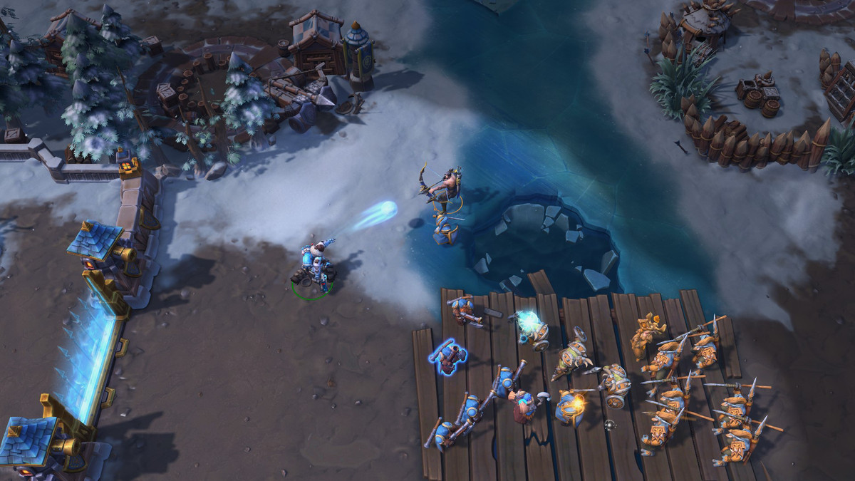 Heroes of the Storm - Mei and Hanzo have a battle in Alterac Pass