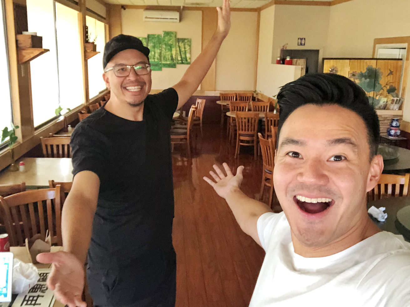 """Phil Wang (right), one half of <a class=""""ql-link"""" href=""""https://www.youtube.com/user/WongFuProductions"""" target=""""_blank"""">Wong Fu Productions</a>, along with business partner Eric Wang. Bopomofo Cafe<strong> </strong>opens mid-February"""