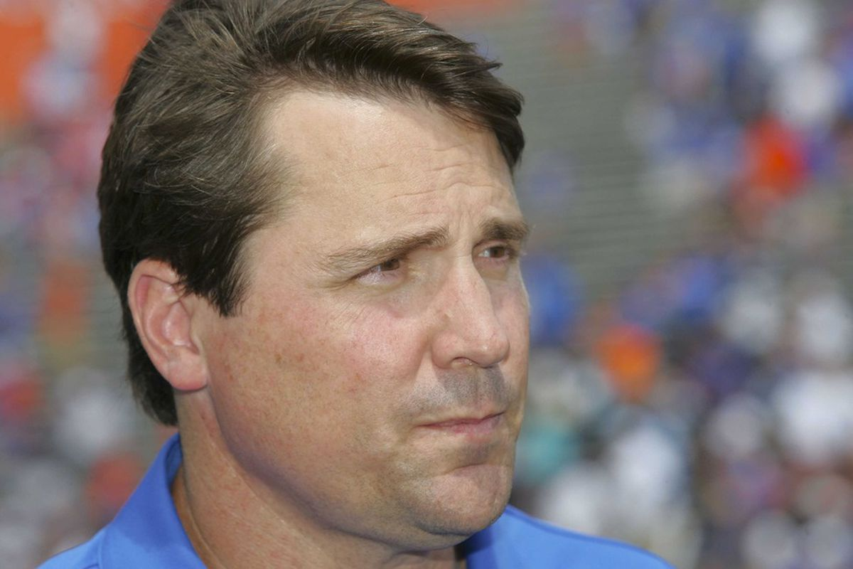 It's another uncomfortably close picture of Will Muschamp!