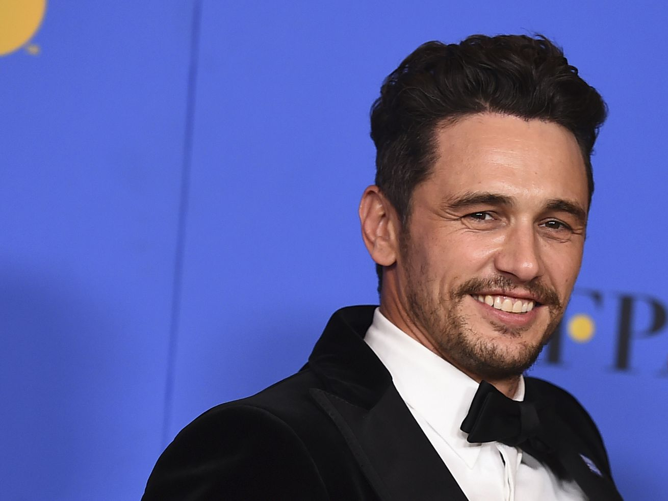 James Franco poses the press room at the 75th annual Golden Globe Awards at the Beverly Hilton Hotel on Sunday, Jan. 7, 2018, in Beverly Hills, California.