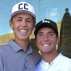 Corner Canyon's Caysen Wright and Lone Peak's Parker Reese (co-Region 4 medalists)