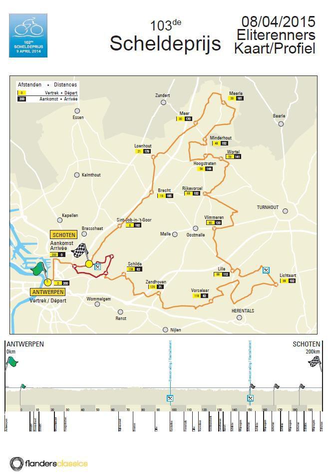 Scheldeprijs Map