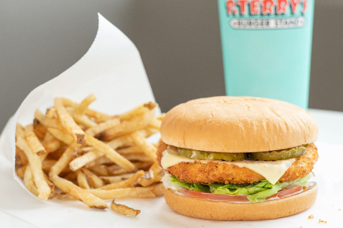 The crispy chicken burger from P. Terry's
