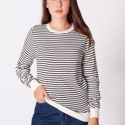 "<a href=""http://store.americanapparel.net/unisex-knit-small-stripe-sweater-crew-neck_rsakwcnsw"">Unisex Knit Small Stripe Sweater Crew Neck</a>, $18.60 (was $62)"