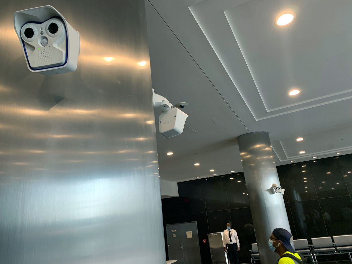 Thermal cameras in MTA offices intended to prevent the spread of Covid-19.