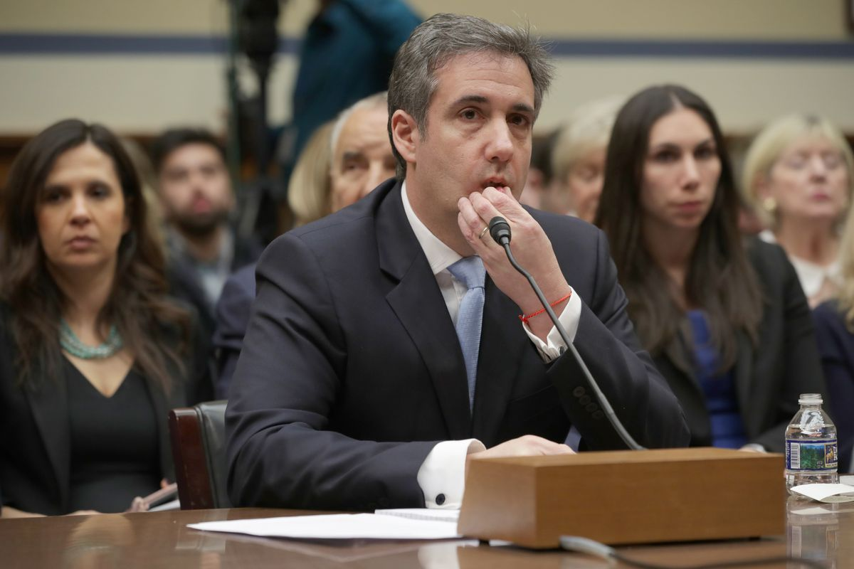 Former Trump lawyer Michael Cohen testifies before the House Oversight Committee.