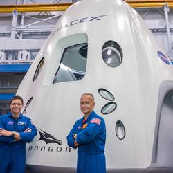 <em>NASA astronauts Bob Behnken (L) and Doug Hurley (R)</em>