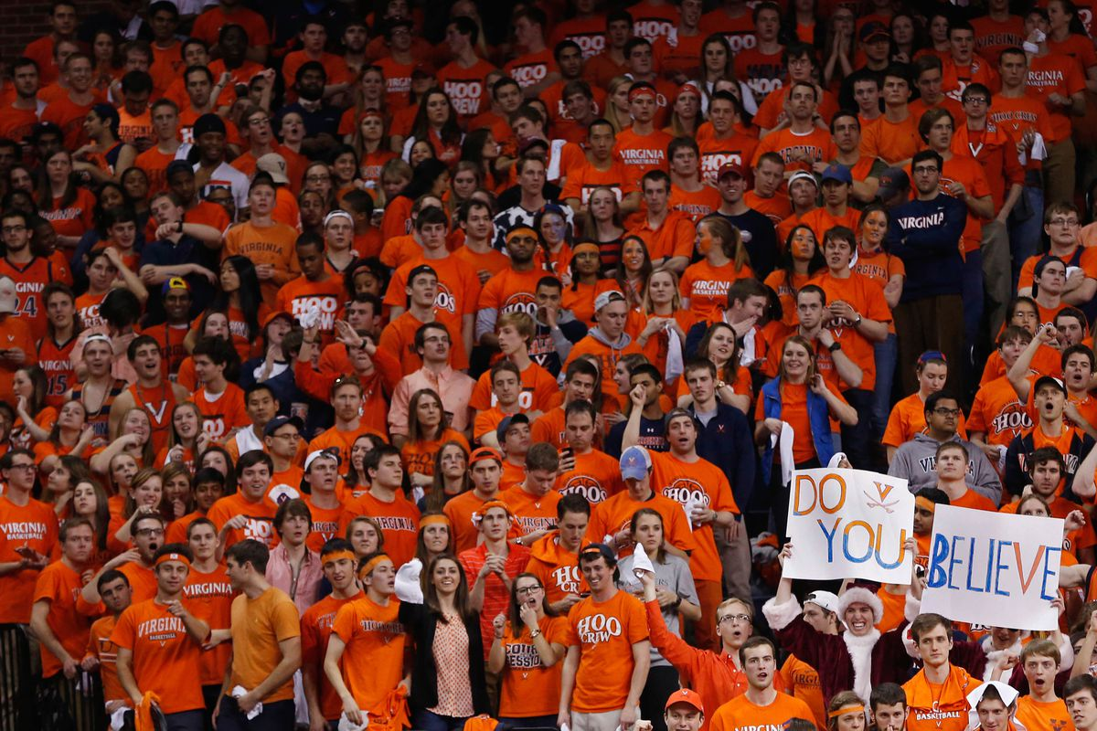 These guys have to wait until Sunday to see the Hoos in action :(