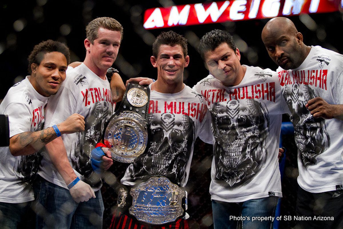 UFC Bantamweight Champion Dominick Cruz defeated former WEC Featherweight champion Urijah Faber via unanimous decision to retain the bantamweight title at UFC 132. (Photo by Ryan Malone)