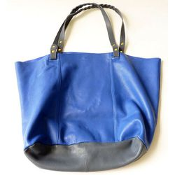 """<b>Petite Mendigote</b> Sybille Bag in blue, <a href=""""http://www.achengshop.com/products/sybille-bag-blue#"""">$298</a> at A Cheng"""