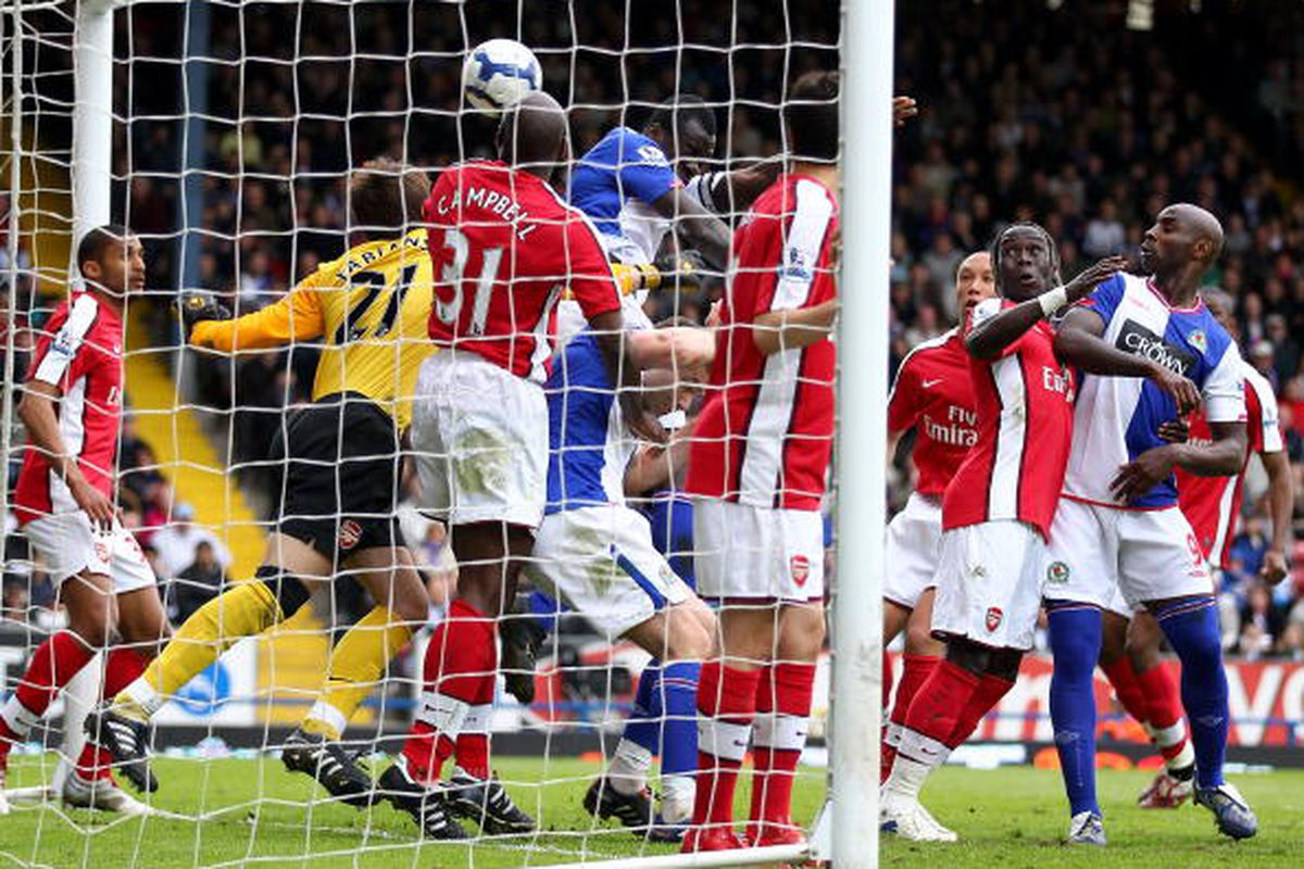 Chris Samba and David Dunn shove in a goal.  (Photo by Clive Brunskill/Getty Images)