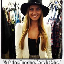 """Lindsay Hoffman, fashion publicist at <a href=""""http://www.bollare.com"""">Bollare</a>"""