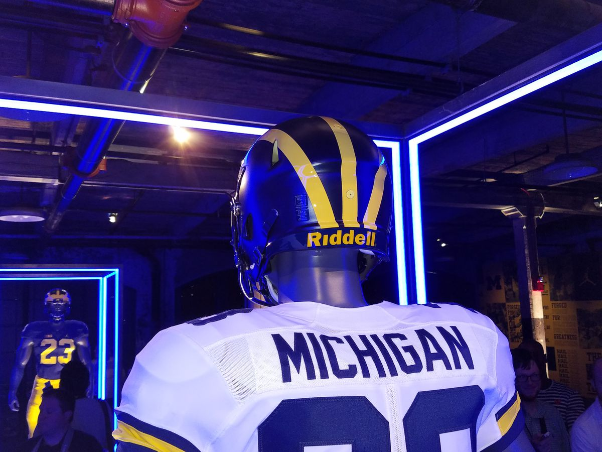 Photo Gallery: An Up-close Look at Michigan Football's Jumpman Jerseys