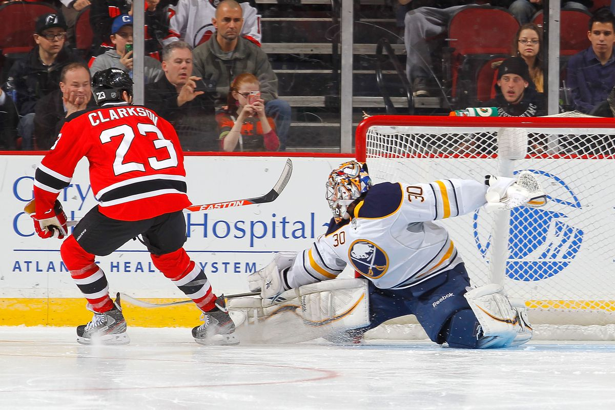 The eventual shootout-winning, streak-snapping goal scored by David Clarkson, of all Devils.