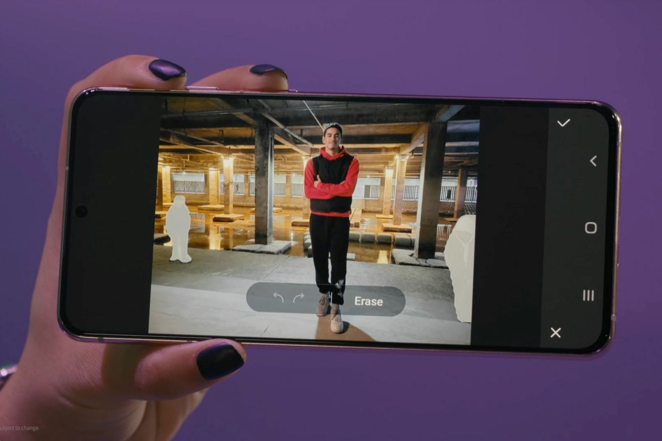 Samsung's object eraser will let you remove people from the background of your photos