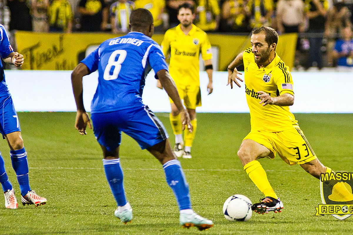 Federico Higuain doing what he does best: attacking. (Photo by Sam Fahmi / Massive Report)