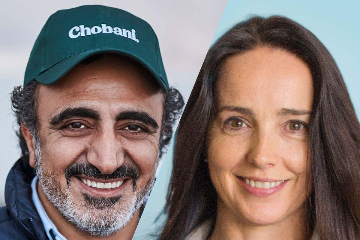 "<span data-author=""-1"">Chobani CEO H</span>amdi Ulukaya<span data-author=""-1""> and Square CFO Sarah Friar</span>"