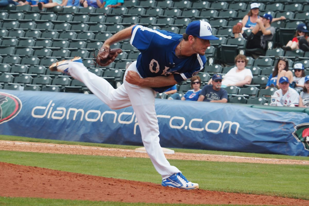 Grant Dayton has struck out nearly half his batters in the minors this season.