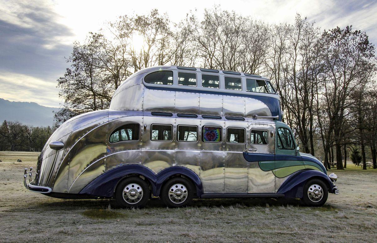 Volkswagen Camper Sits Atop Art Deco Inspired Magic Bus