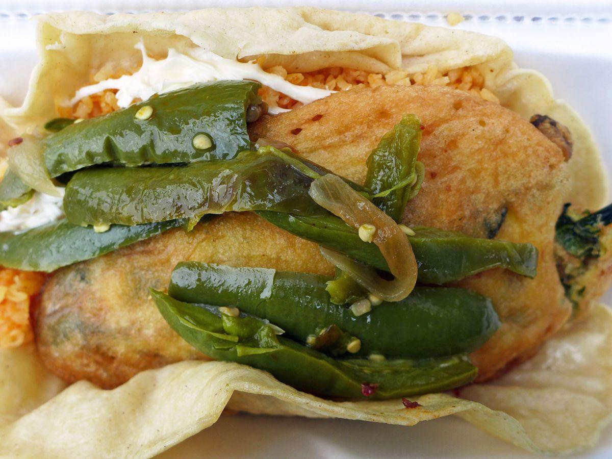 Chile relleno taco placeros La Duena 2 Mexican Deli