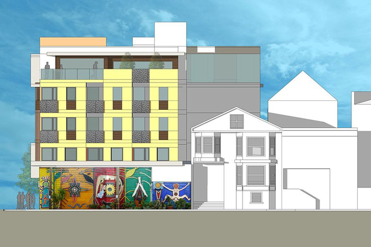 Renderings of the proposed building at 24th and Harrison.