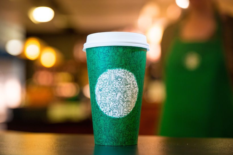 87fe60f1cbd Following the 2015 debacle, Starbucks foregoes red cups altogether, instead  ...