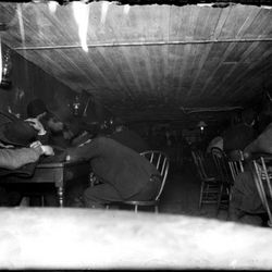 """""""Bandit's Roost -- In a stale beer dive in cellar -- flashlight at 3 a.m."""" 1890 by Jacob A. Riis. From the Collections of the Museum of the City of New York. [<a href=""""http://collections.mcny.org/MCNY/C.aspx?VP3=ViewBox&IT=ZoomImageTemplate0"""