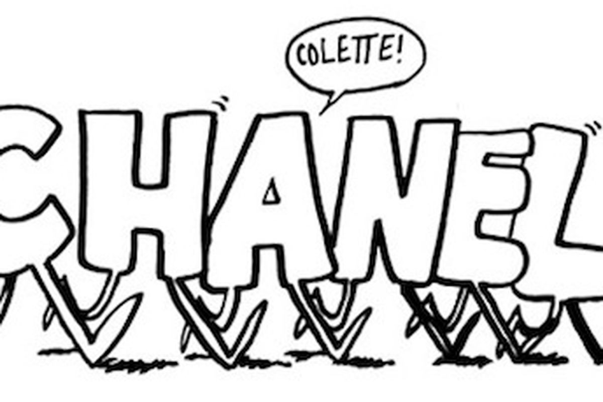 """We know you're bored with your 2.55. Don't fret - you can get your next <strong>Chanel</strong> bag customized with Kevin Lyons doodles at <strong>Colette</strong>. Image via <a href=""""http://www.colette.fr/#/a/4/news/"""">Colette</a>."""