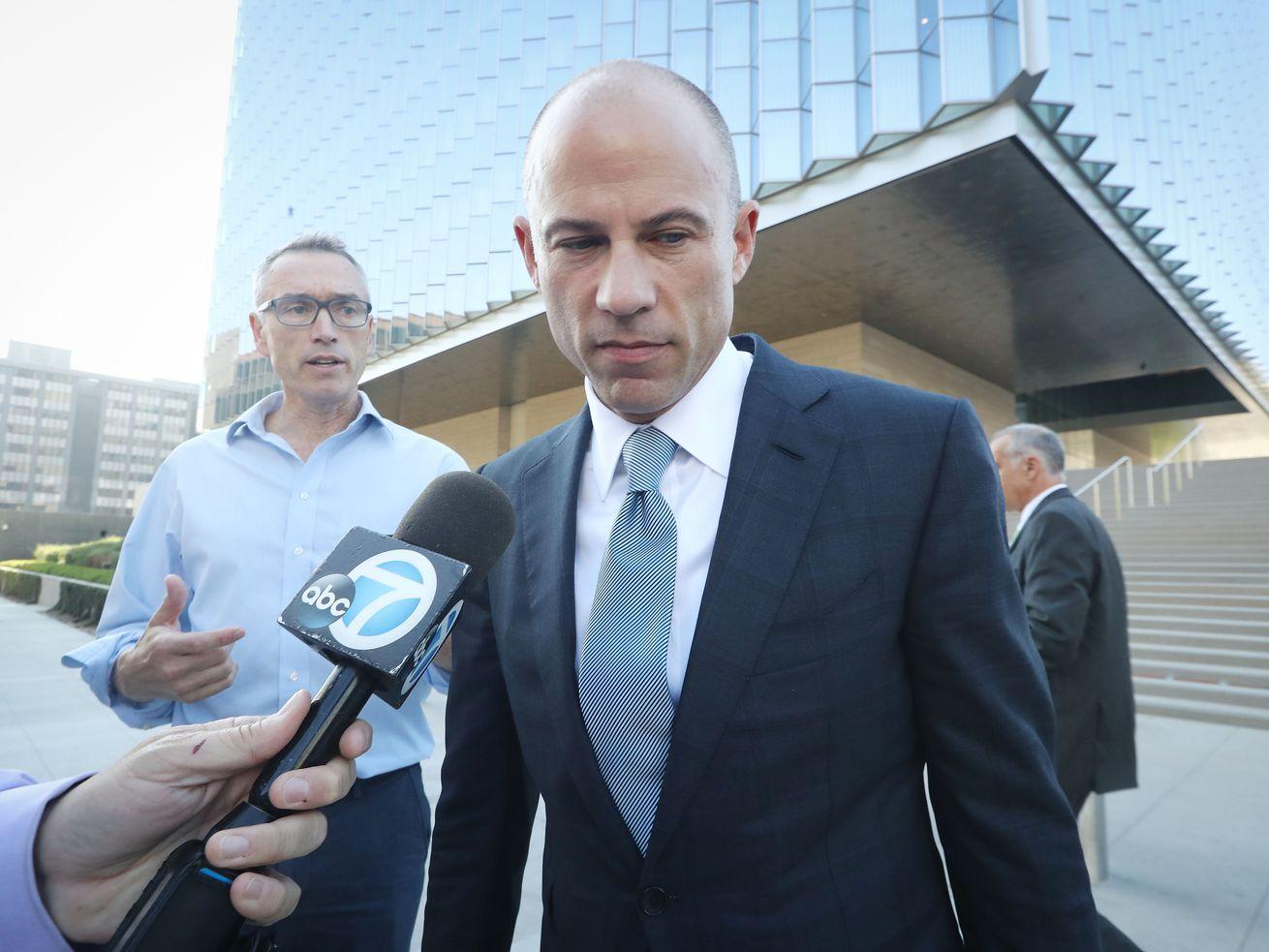 Michael Avenatti outside a California courtroom in September 2018.