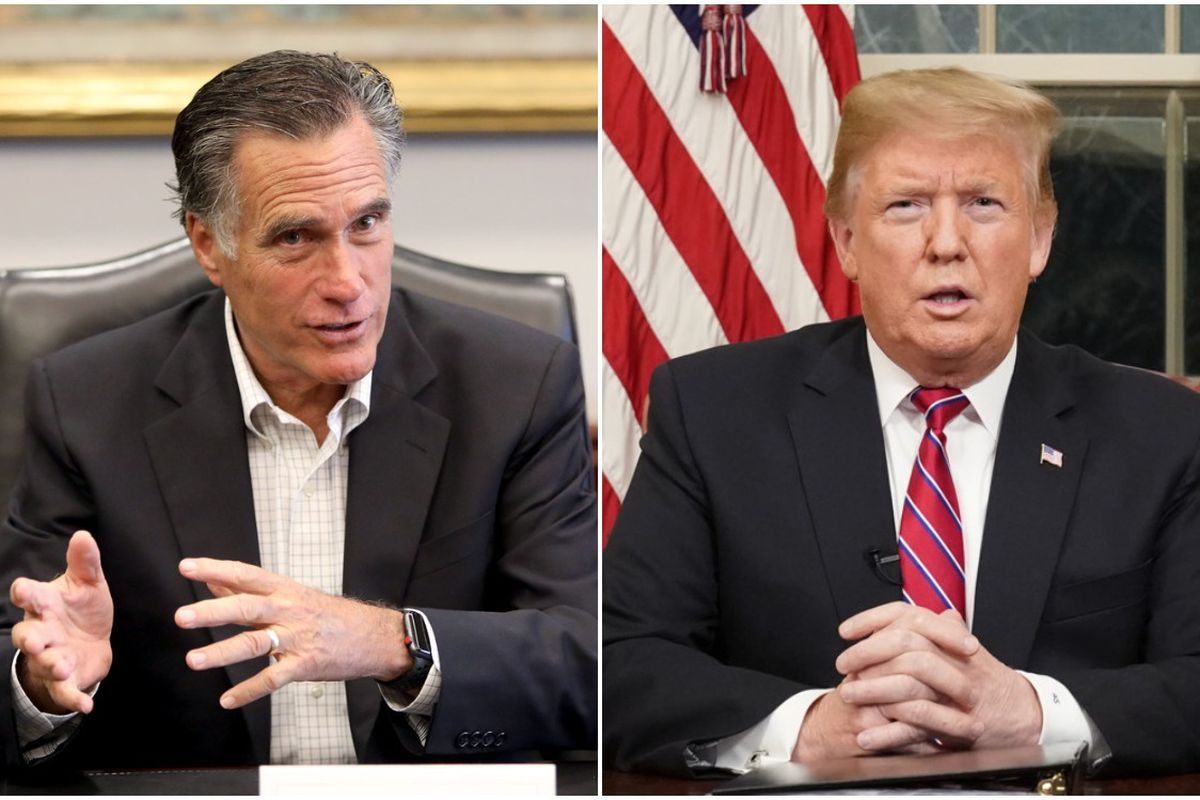 OH Predictive Insights found Sen. Mitt Romney bests President Donad Trump 55 percent to 37 percent among likely Utah Republican voters in a hypothetical primary contest.