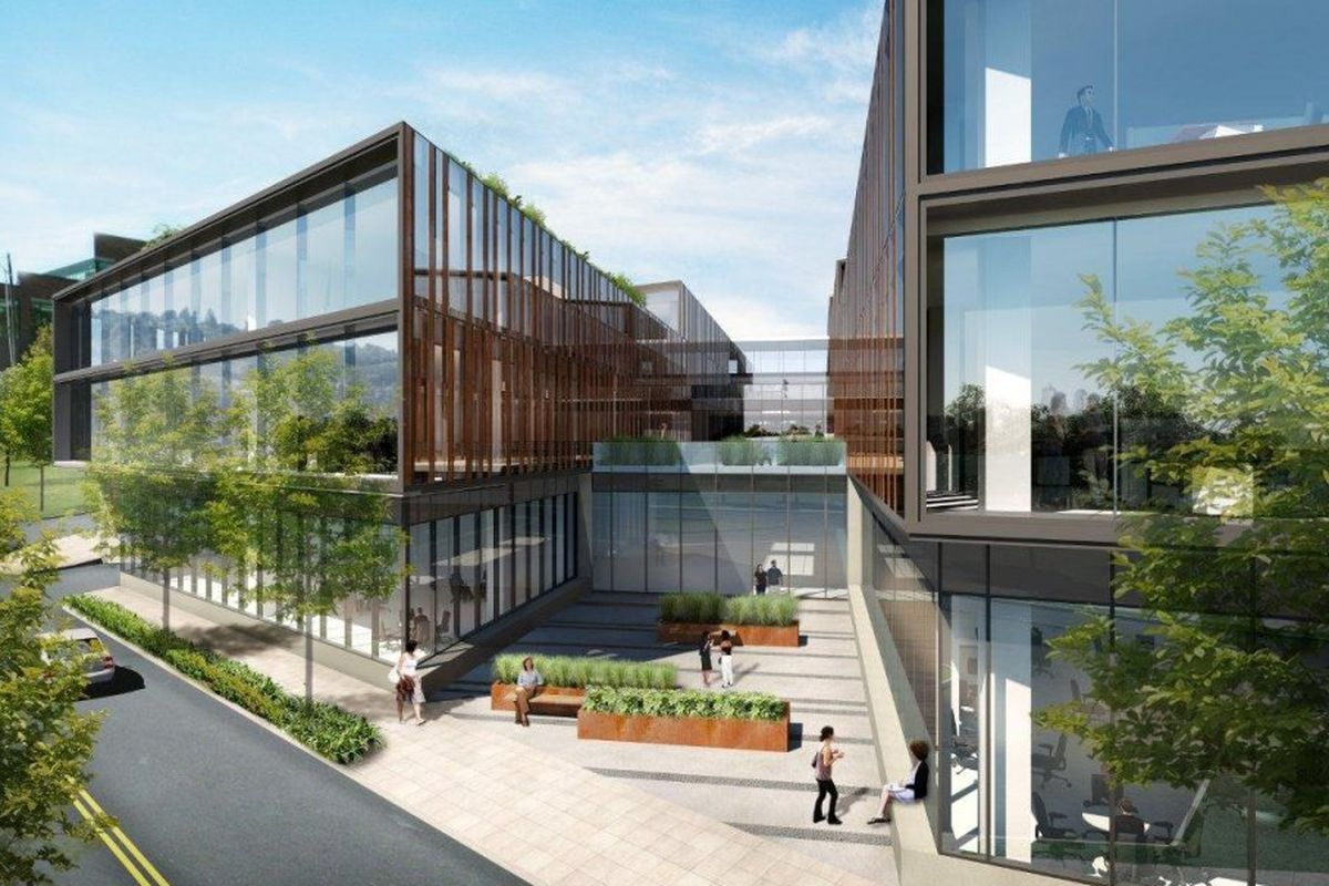 A rendering of the Northedge building.