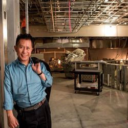 Martin Yan stands proud just inside the entrance.